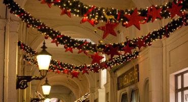 Hamburg's landmarks at Christmas