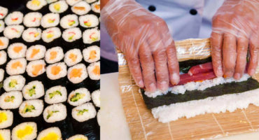 Sushi class at the Reeperbahn