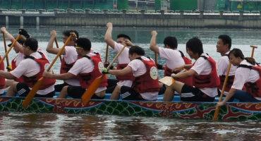 Drachenbootrennen-Asien bis Hamburg